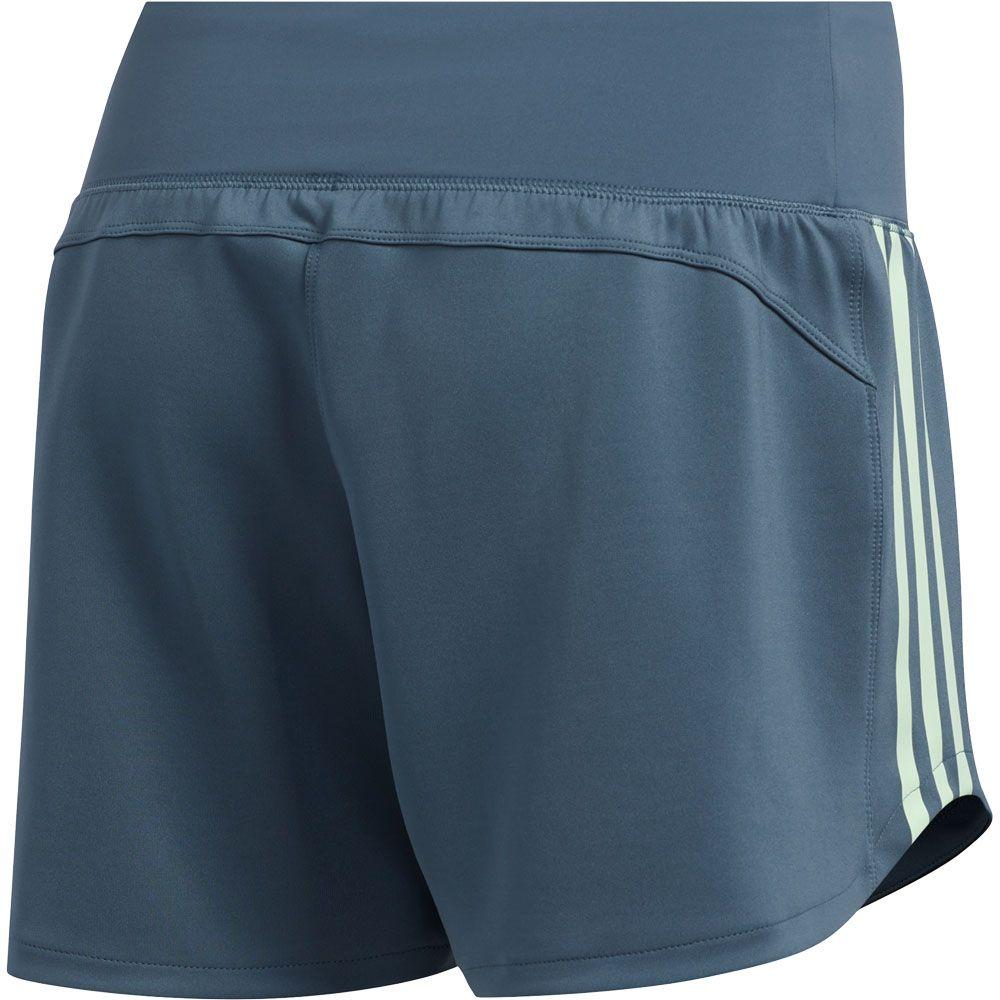 adidas - 3-Stripes Gym Shorts Women legacy blue green tint