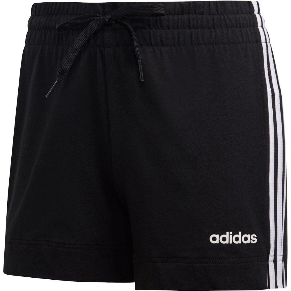 adidas - Essentials 3-Stripes Shorts Women black white