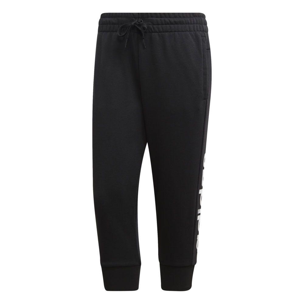 adidas - Essentials Linear 3 4-Hose Damen schwarz weiß kaufen im ... 81ab42466b