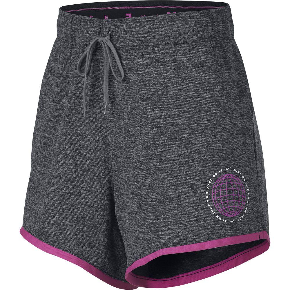 d18eba807 Nike - Dri-FIT Training Shorts Women black gunsmoke active fuchsia ...