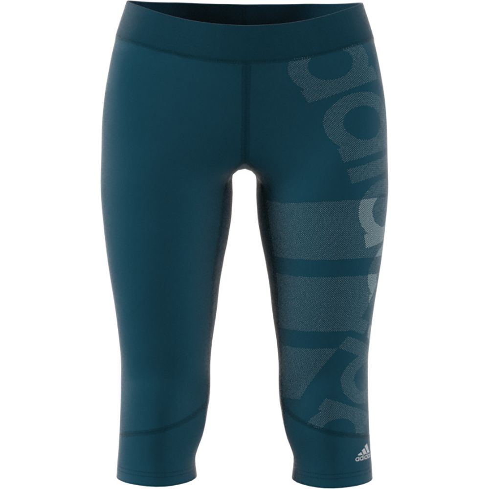 2233791008649 adidas - Techfit 3/4 Tights Women petrol night at Sport Bittl Shop
