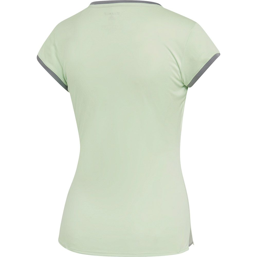 adidas 3 Stripes Club T shirt Women glow green