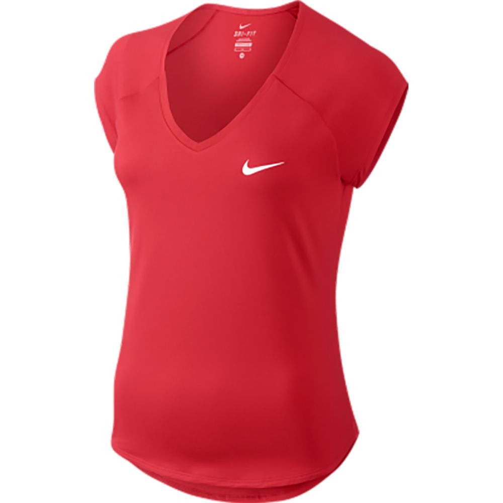 Nike - Court Pure Tennis Top Women action red white at Sport Bittl Shop ce09cd171
