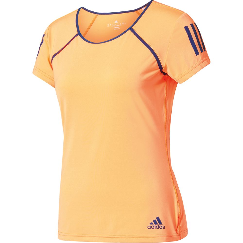 Shirt Sport Top in Orange and Yellow  CLIMALITE ADIDAS Ladies T