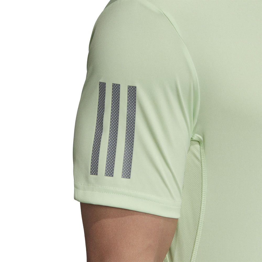 adidas 3 Streifen Club Poloshirt Herren glow green grey