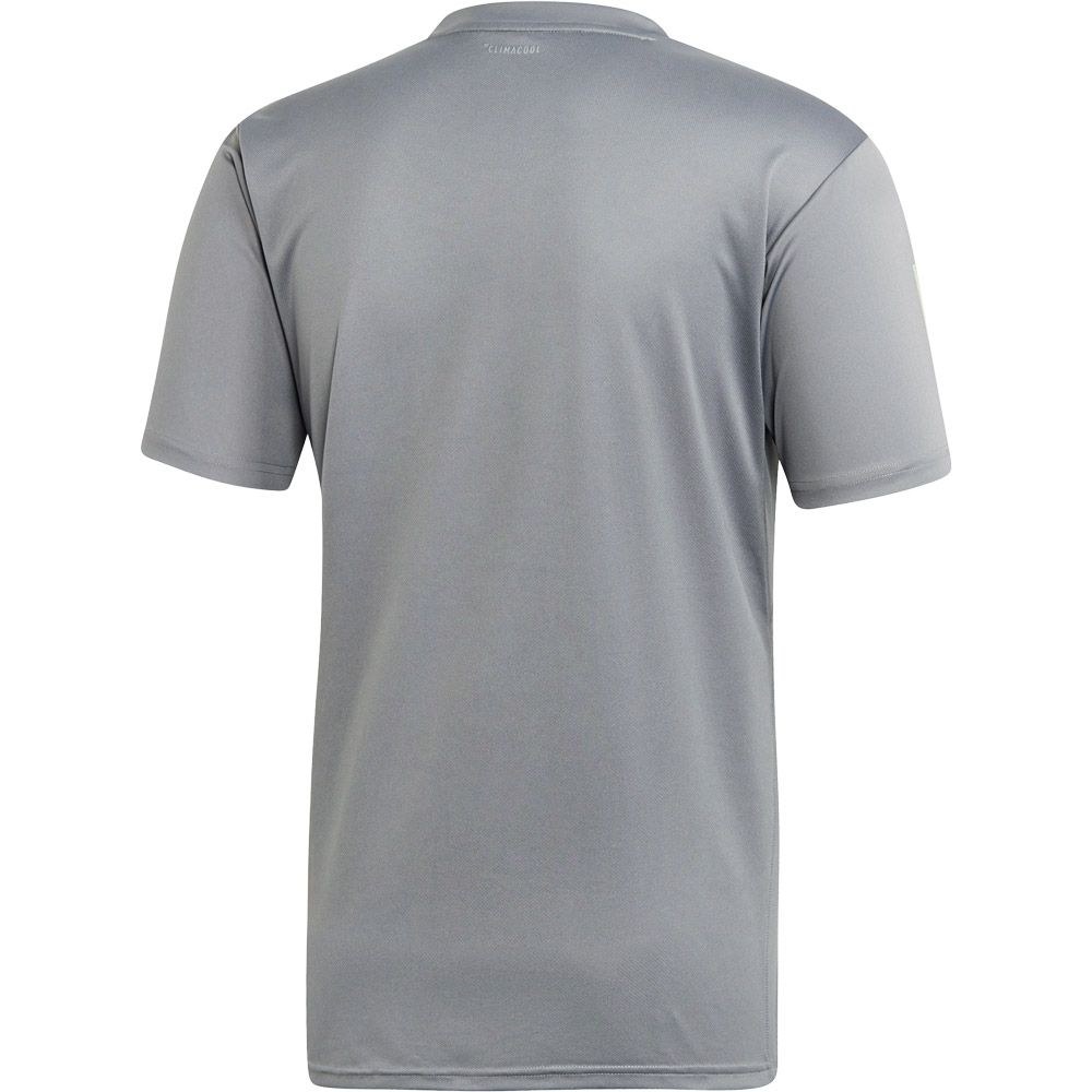 adidas 3 Stripes Club T shirt Men grey three glow green