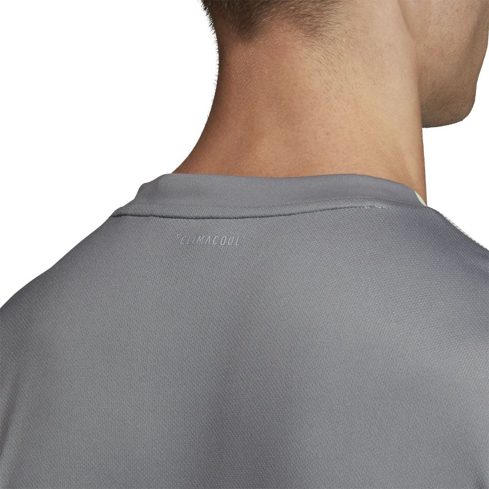 adidas 3 Streifen Club Poloshirt Herren glow green grey three
