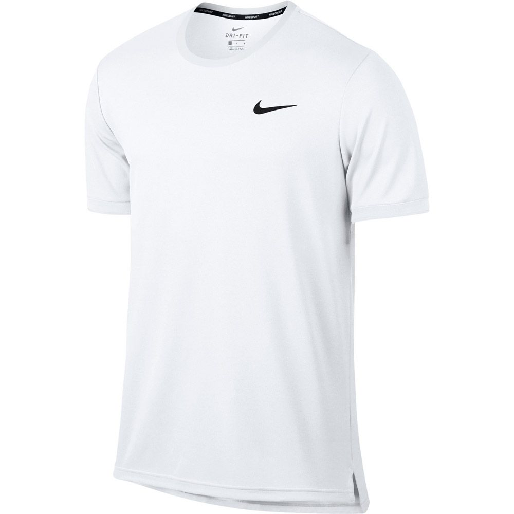 super popular 301f4 eb8a1 Nike - NikeCourt Dry Tennis T-shirt Men white black at Sport ...