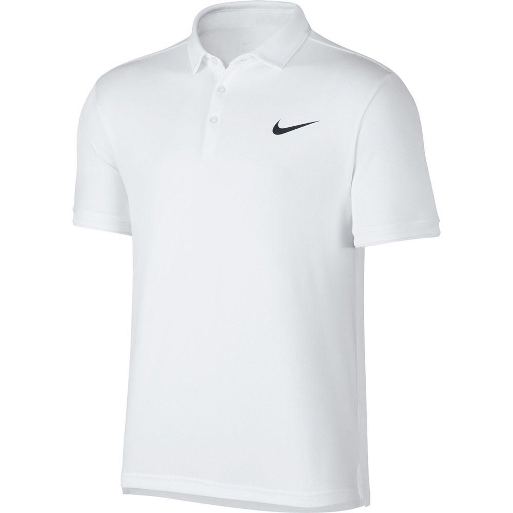 ee3907fc Nike - Court Dry Tennis Polo Shirt Men white black at Sport Bittl Shop