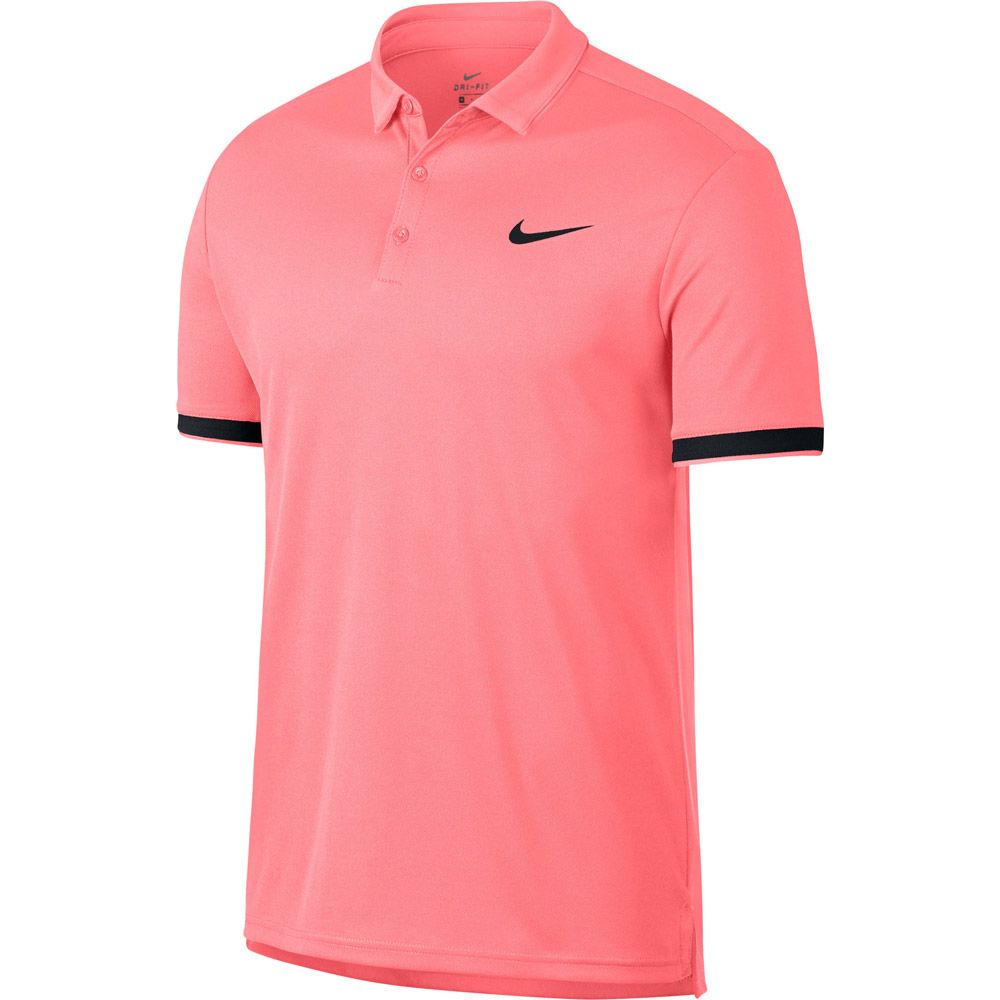 sale retailer cef14 2a0bb Nike - NikeCourt Dry Tennis Polo Shirt Men lava glow black ...