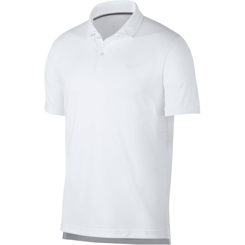 Nike Herren T Shirt Court Dry T Shirt DunkelblauWeiß