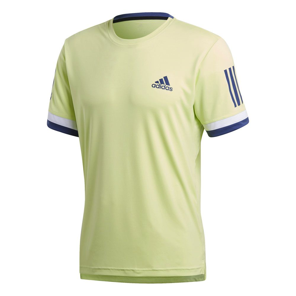 adidas 3 Stripes Club T shirt Men semi frozen yellow at