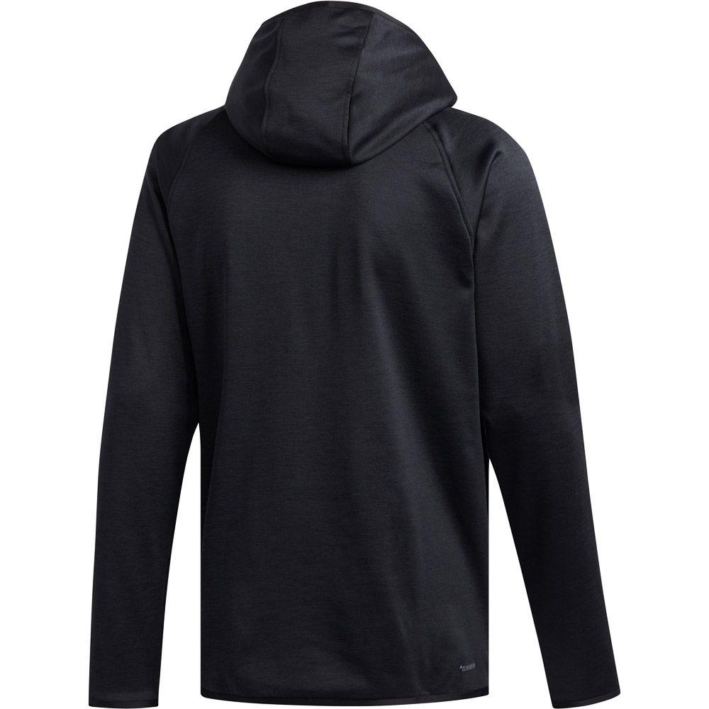adidas FreeLift Climawarm 3 Stripes Hoodie Men black at