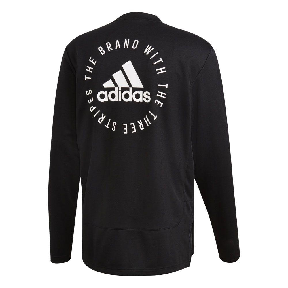sweater, adidas, adidas sweater, black, black sweater, white