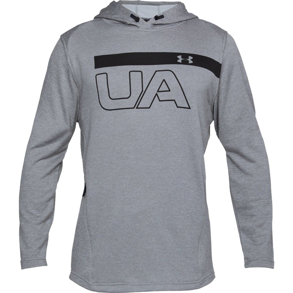 Under Armour Mens Tech Terry Popover Hoodie Black Sports Gym Breathable