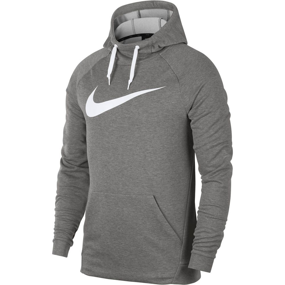 Nike , Dry Hoodie Men dark grey heather white at Sport Bittl