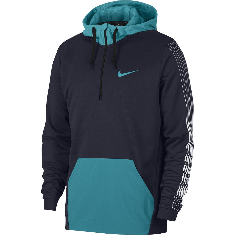 Nike Dri FIT Fleece Trainings Hoodie Men obsidian spirit teal