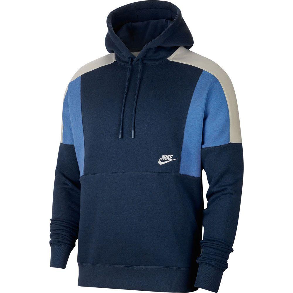 försäljning usa online 100% toppkvalitet bästsäljande Nike - Sportswear Hoodie Men midnight navy pacific blue white at Sport  Bittl Shop