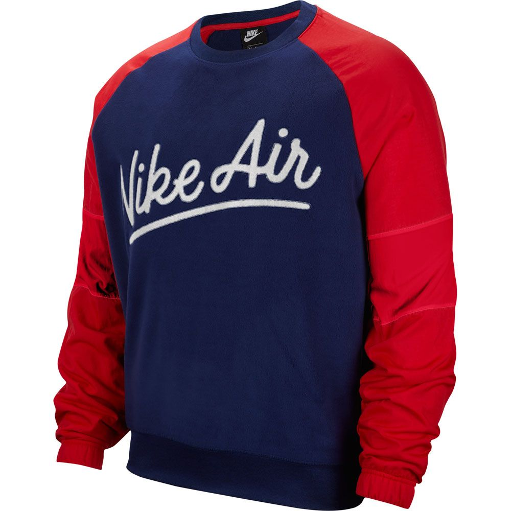 Nike Air Crew Mix Sweatshirt Men blue void university red white