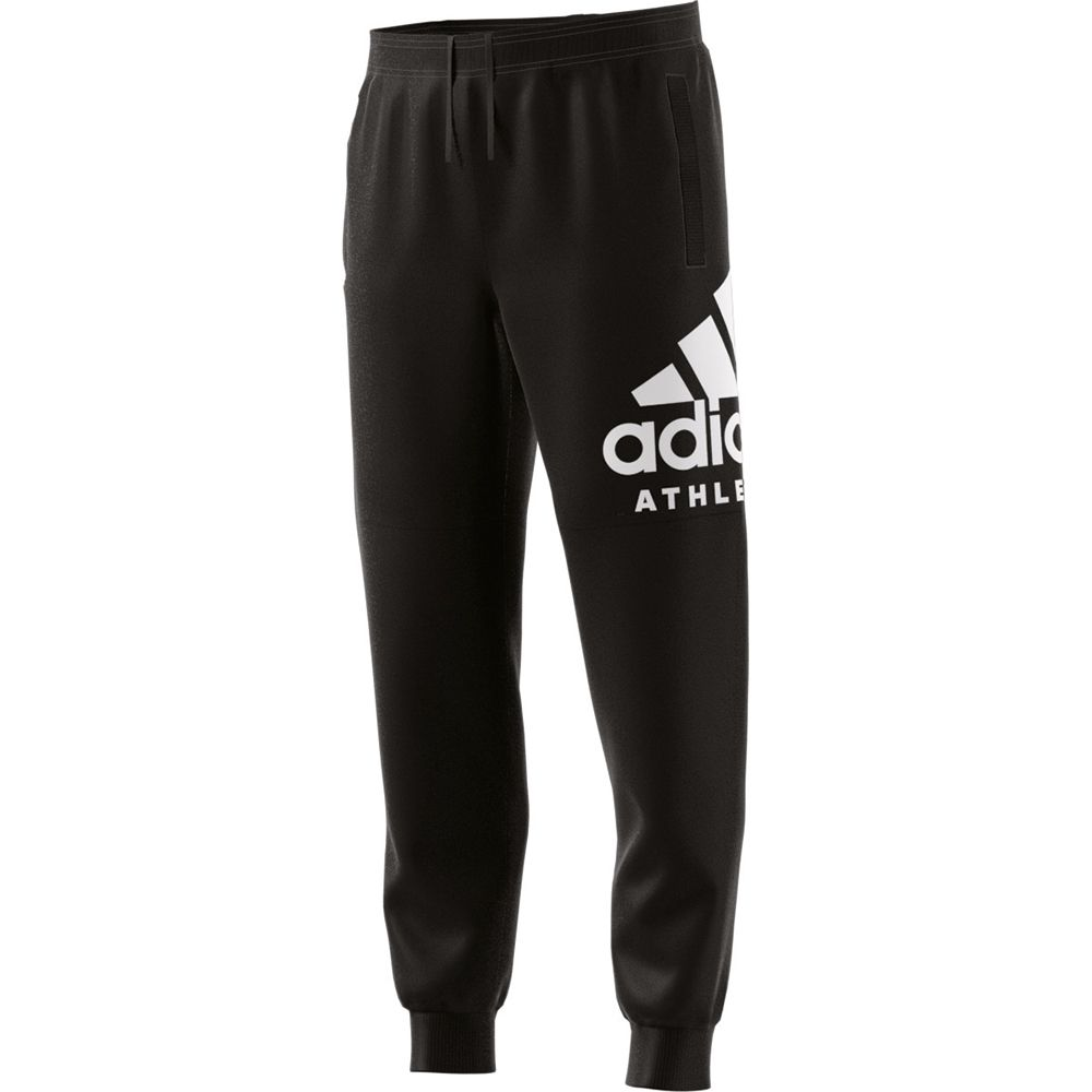 fff7b936286a1 adidas - Sport ID Branded Tapered Fleece Pants Men black white at ...