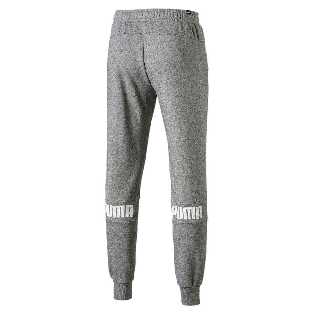 90a2e0fb7b6f2b Puma - Amplified Sweat Pants TR Men medium gray heather at Sport ...