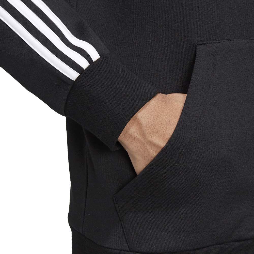 adidas Essentials 3 Stripes Fleece Hoodie Men black white
