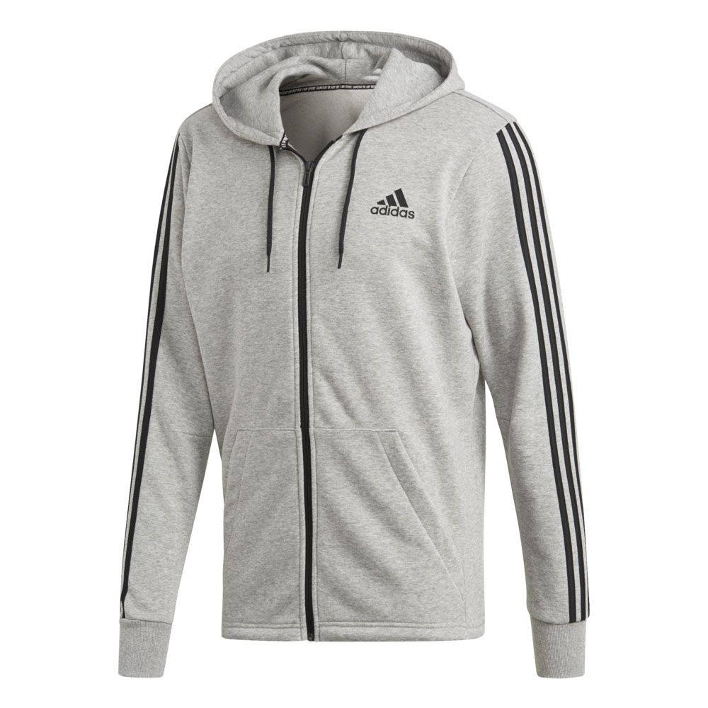 1b4e4895 adidas - Must Haves 3-Stripes Fullzip Hoodie French Terry Men medium ...