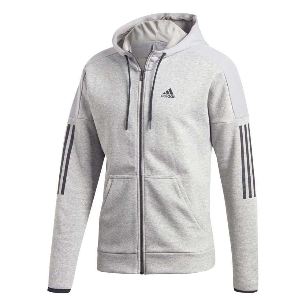 uk cheap sale exclusive shoes size 40 adidas - Sport ID Fleece Full Zip Hoodie Men medium grey ...