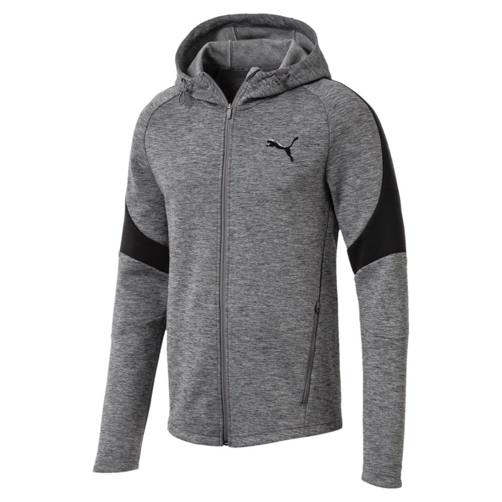 Puma Evostripe Full Zip Hoodie Herren medium gray heather