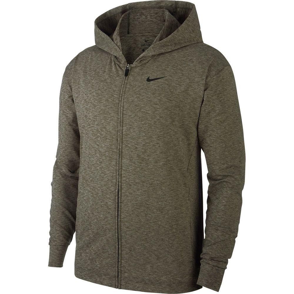 Nike Yoga Dri FIT Full Zip Hoodie Herren cargo khaki heather black