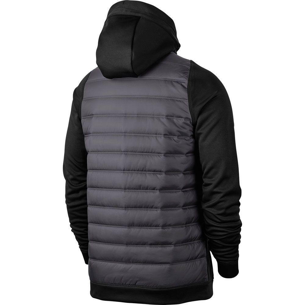 new product ab6b3 11fbf Nike - Therma Full Zip Hoodie black dark grey