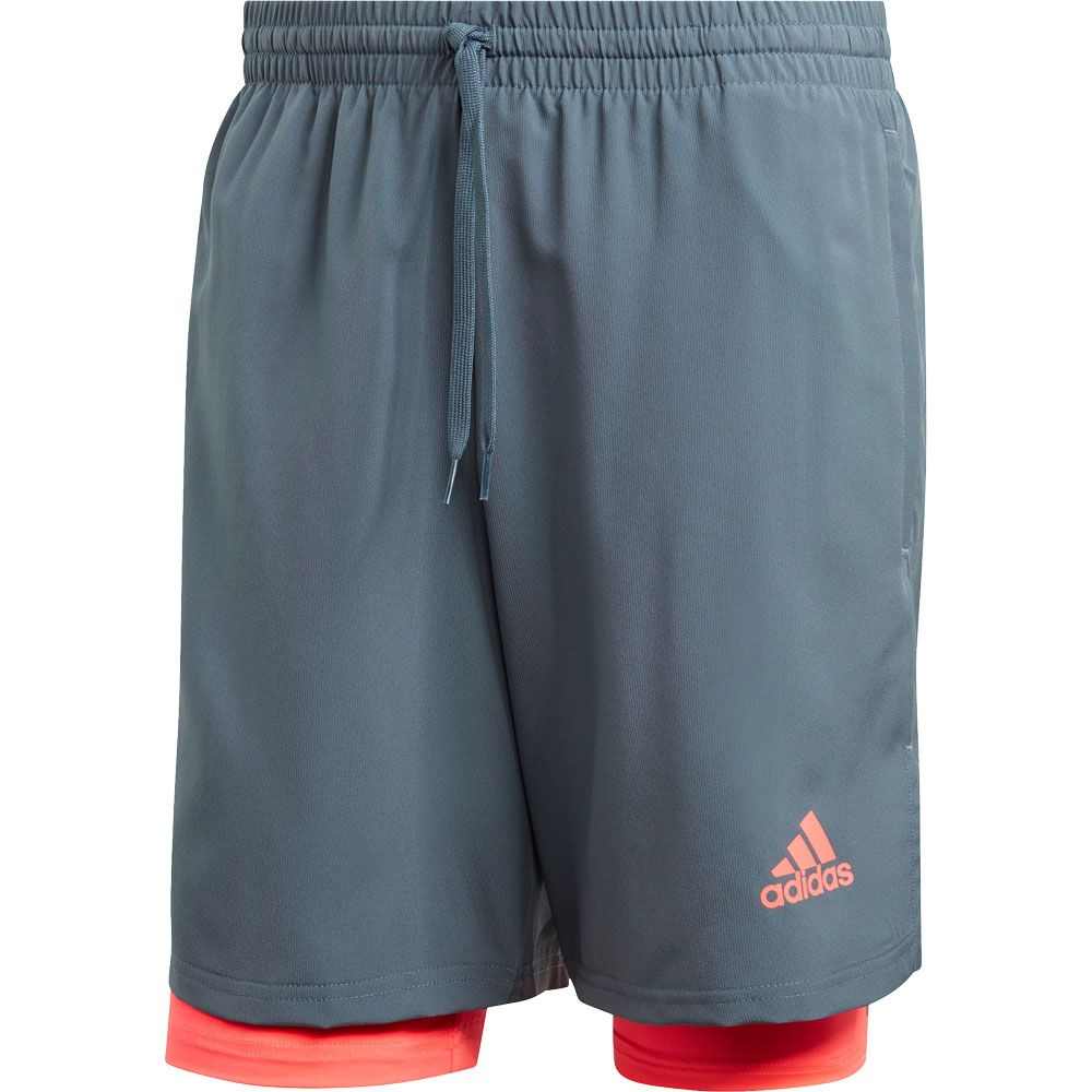 adidas Activated Tech Shorts Men legacy blue signal pink