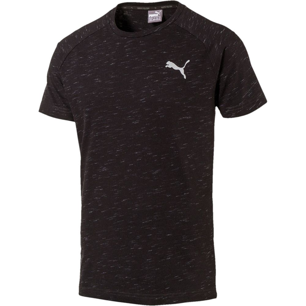 Puma Evostripe SpaceKnit Shirt Men black heather at Sport