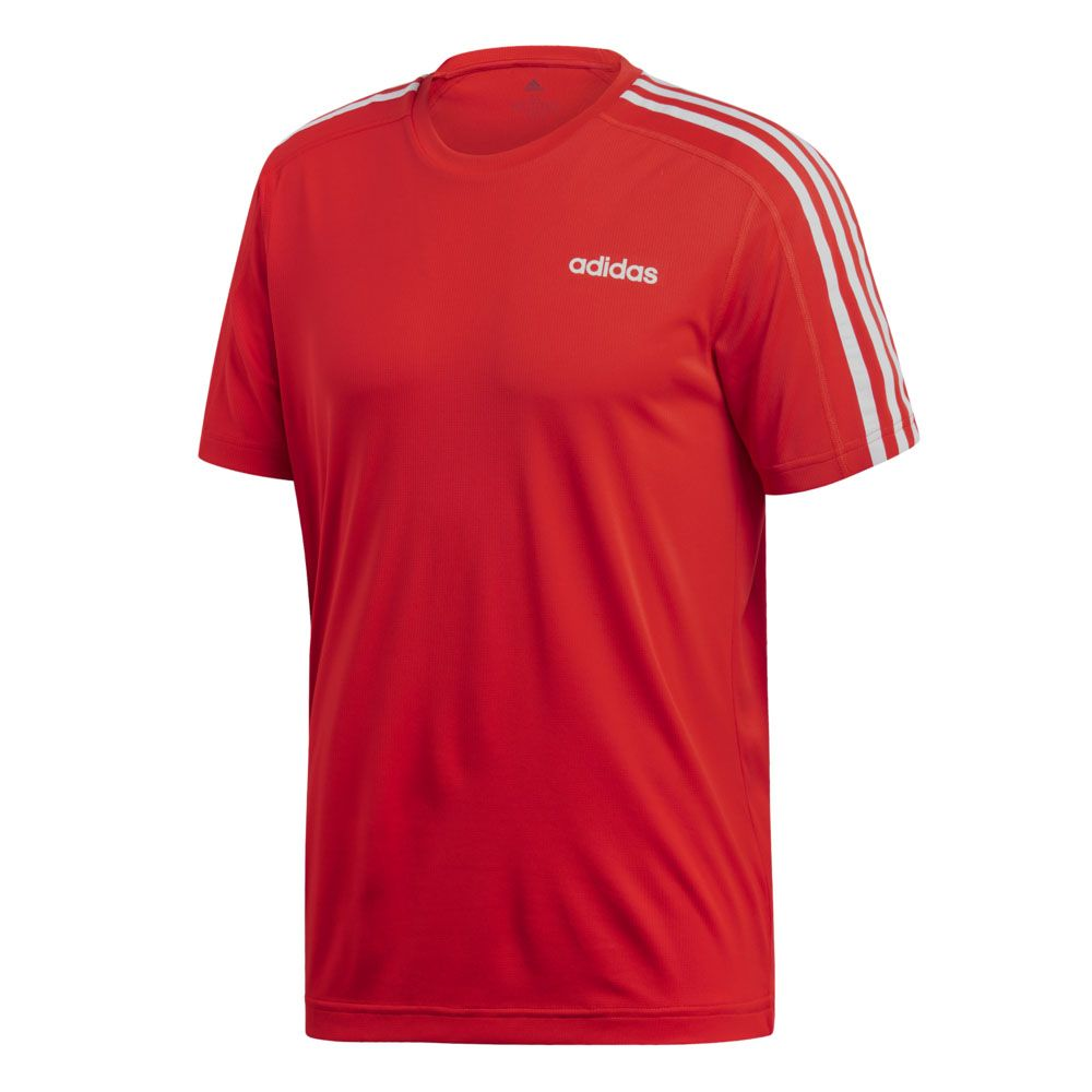 57796cdbe3616c adidas - Design 2 Move 3-Stripes T-shirt Men active red at Sport ...
