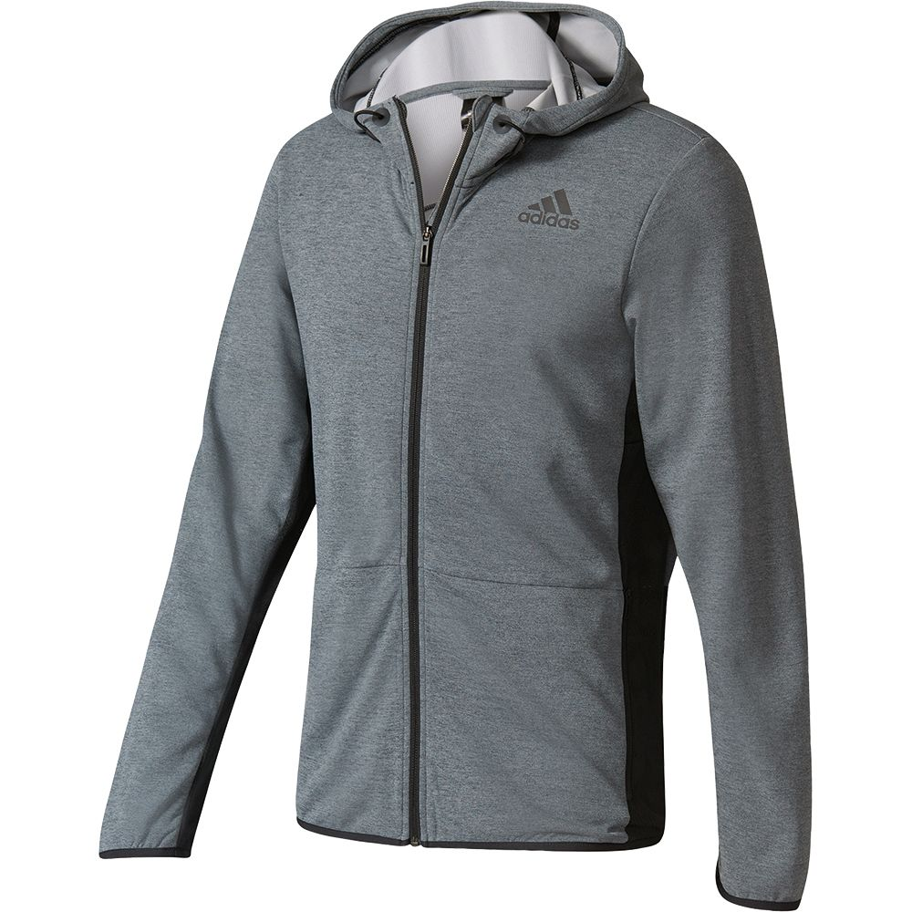 adidas Workout Full Zip Climacool Hoodie Herren black