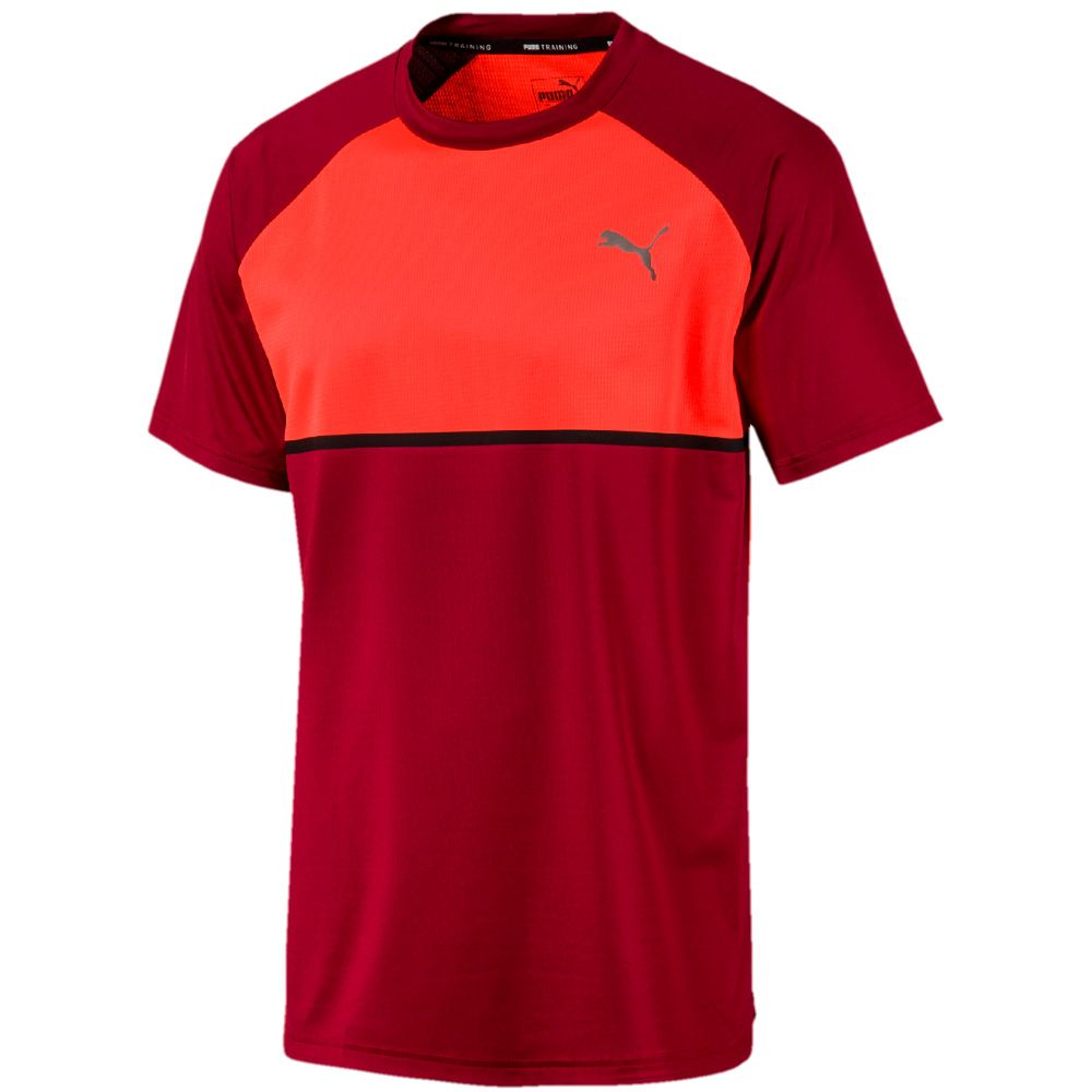 Familiarizarse dos Mirar atrás  Puma - Power BND T-shirt Men rhubarb nrgy red at Sport Bittl Shop