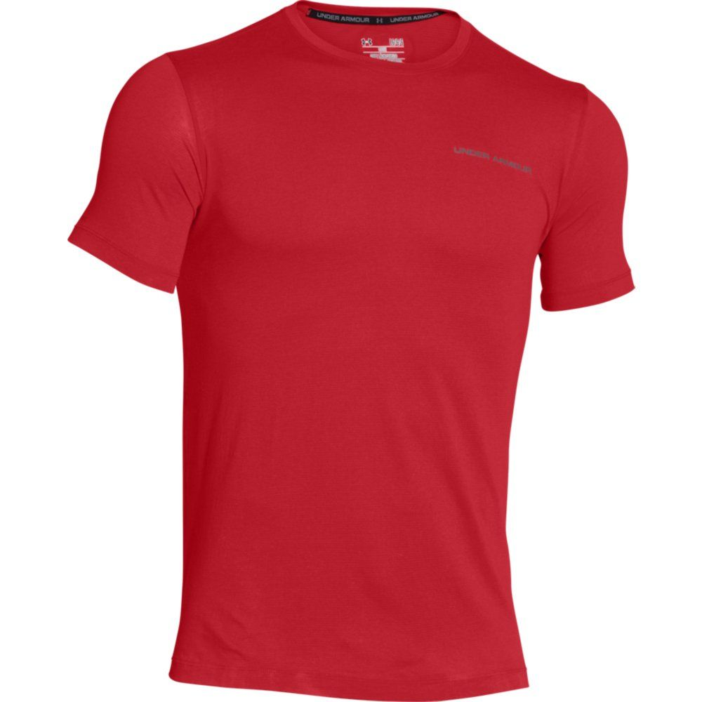 Under Armour - Charged Cotton SS Tee Men red at Sport Bittl Shop 8a74fcb7d0d