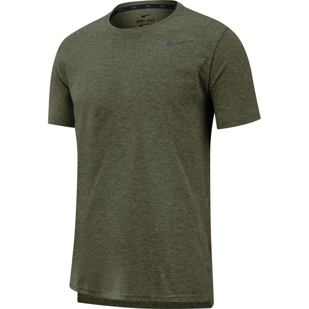 purchase cheap 5609e c2c49 Nike - Dri-FIT Breathe T-Shirt Herren cargo khaki heather black