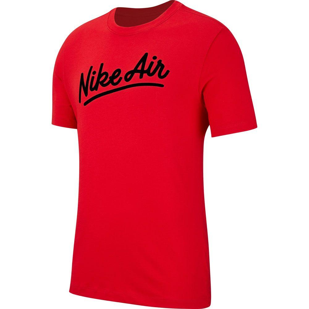 Joya Planeta Rítmico  Nike - Air T-Shirt Men university red black at Sport Bittl Shop