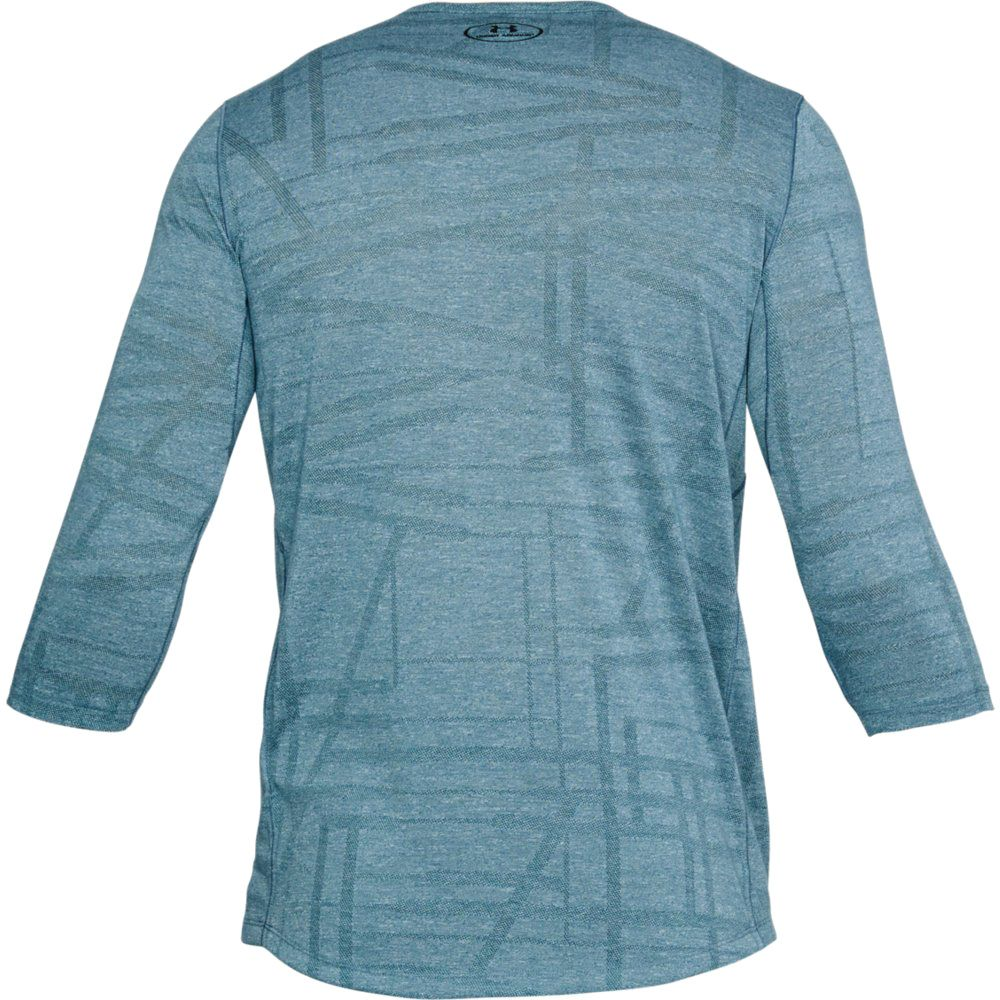Blue Under Armour Threadborne Fitted Knit Mens Long Sleeve Running Top