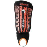 Uhlsport - Flex Plate Shinguards black fluo red