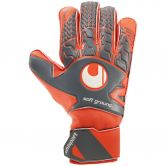Uhlsport - Aerored Soft Pro Goalkeeper Gloves dark grey fluo red white