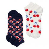Happy Socks - Shooting Heart Low Socks 2 Pack Unisex