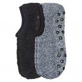 Camano - Cosy Sneaker ABS Socken 2er Pack Damen schwarz