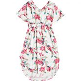 Roxy - Flamingo Shades Midikleid Damen snow white tropic call