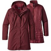 Patagonia - Vosque 3in1 Parka Damen dark ruby