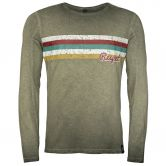 Chillaz - Alaro Respect Longsleeve Herren olive washed