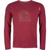Chillaz - Alaro Lettering Bus Longsleeve Men dark red