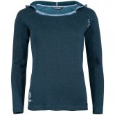 Chillaz - Bergamo Ornament Logo Longsleeve Damen dark blue melange
