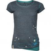 Chillaz - Fancy Little Dot T-Shirt Damen indigo blue stripes washed
